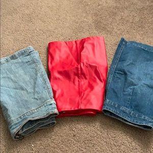 A set of three skirts